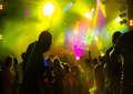 Nightclub youth in the music entertainment shows and dances Royalty Free Stock Image