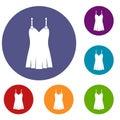 Nightdress icons set Royalty Free Stock Photo