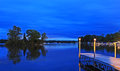 Nightfall on pigeon lake near bobcaygeon in ontario canada the area is a centre for summer cottages and vacation property Royalty Free Stock Photos