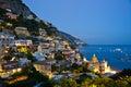Nightfall in Positano Royalty Free Stock Photo