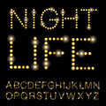 Nightlife alphabet