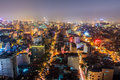 Nightlife in hanoi view all vietnam Stock Photo
