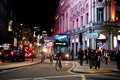 Nightlife in london people stroll piccadilly on a friday night on october from pubs to upmarket bars nightclubs to a vibrant gay Royalty Free Stock Photo