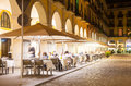 Nightlife in old european city girona catalonia Royalty Free Stock Photo