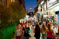 Nightlife in Plaka on August 1, 2013 in Athens, Greece. Stock Photography