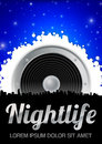 Nightlife Theme with Speaker Stock Photography