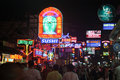 Nightlife at Walking Street Pattaya Thailand Royalty Free Stock Photo
