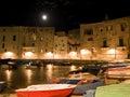 Nightly landscape of Monopoli. Apulia. Royalty Free Stock Photo