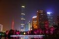 Nightscape of the Huacheng Hui Royalty Free Stock Photo