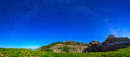 Nightscape panorama in the Utah mountains. Royalty Free Stock Photo