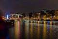 Nightscene Amsterdam Light Festival Royalty Free Stock Photo