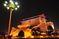 Nightscene of Zhengyangmen Gate Royalty Free Stock Photography