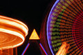 Nighttime Carnival Lights Stock Photo