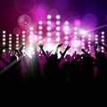Nighttime party music background for active events Royalty Free Stock Images
