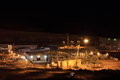 Nightview construction site gold mine Royalty Free Stock Photography