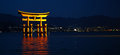Nightview of Torii gate in Miyajima, Japan Royalty Free Stock Image
