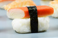 Nigiri sushi detail Royalty Free Stock Photo