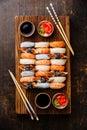 Nigiri sushi set for two Royalty Free Stock Photo