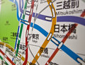 Nihombashi subway map japan Royalty Free Stock Image