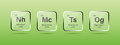 Nihonium, Moscovium, Tennessine and Oganesson