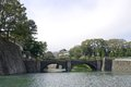 Nijubashi bridge in Imperial Palace, Tokyo, Japan Royalty Free Stock Images