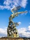 Nike Carmelo Mendola statue, Giardini Naxos, Sicily, Italy Royalty Free Stock Photo