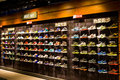 Nike specialty store a nile in china rows of sneakers on shelves Royalty Free Stock Photo
