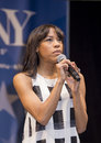 """Nikki m james tony winner sings on my own from les miserables at """"stars in the alley """" a free outdoor concert produced by the Stock Images"""