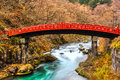 Nikko sacred bridge japan shinkyo Royalty Free Stock Image