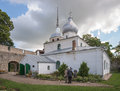 Nikolskaya church porkhov russia the territory of fortress Stock Photo