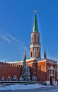 The Nikolskaya Tower of Moscow Kremlin,Russia Stock Photos