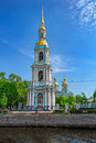 Nikolsky cathedral belltower. Royalty Free Stock Photo