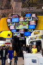 Nikon stand at consumer electronics photo expo th of april in moscow russia Royalty Free Stock Photo