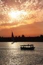 Nile Sunset Royalty Free Stock Photo
