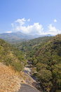 Nilgiri hills valley karnataka picturesque with river running through the south india Royalty Free Stock Images