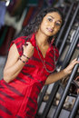 Nilushi fernando is a new actress in srilanka news paper photoshoot at colombo Stock Photo