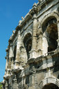 Nimes amphitheatre in southern France Stock Photos