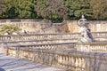 Nimes, fountain gardens Royalty Free Stock Photo