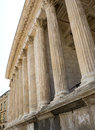 Nimes maison carree gard languedoc roussillon france historic palaces near the roman temple built in the st century Royalty Free Stock Photography