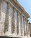 Nimes maison carree gard languedoc roussillon france roman temple built in the st century Stock Image