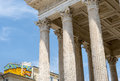 Nimes maison carree gard languedoc roussillon france roman temple built in the st century Royalty Free Stock Images