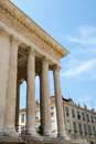 Nimes maison carree gard languedoc roussillon france roman temple built in the st century Royalty Free Stock Photography