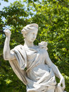 Nimes park gard languedoc roussillon france statue in the Royalty Free Stock Images