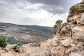 Nimrod castle and israel landscape ruins in tourosim travel Royalty Free Stock Image