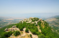 The nimrod fortress mivtzar is a medieval situated in northern golan heights israel Stock Photos