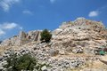 Nimrod fortress the ruins of the northwest tower at the on the slope of mount hermon israel Stock Photography