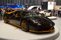 Nimrod zero geneva th salon de lauto what apparently look like a black ferrari laferrari is actually a tuned italia by the Stock Photography