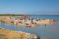 Nin sandbar beach summer view Royalty Free Stock Photo