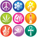 Nine 60s Icon Buttons Royalty Free Stock Photo