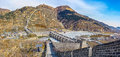 Nine arch bridge on great china wall panorama of and at water gates section of the known as the over water Royalty Free Stock Photo